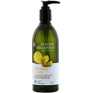 Avalon Organics, Glycerin Hand Soap, Refreshing Lemon, 12 fl oz (355 ml)
