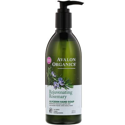 Купить Glycerin Hand Soap, Rejuvenating Rosemary, 12 fl oz (355 ml)