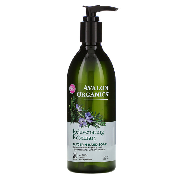 Glycerin Hand Soap, Rejuvenating Rosemary, 12 fl oz (355 ml)