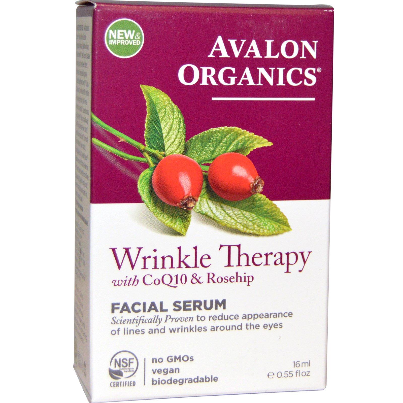 Avalon Organics, CoQ10 Repair, Сыворотка против морщин, 55 жидких унций (16 мл)