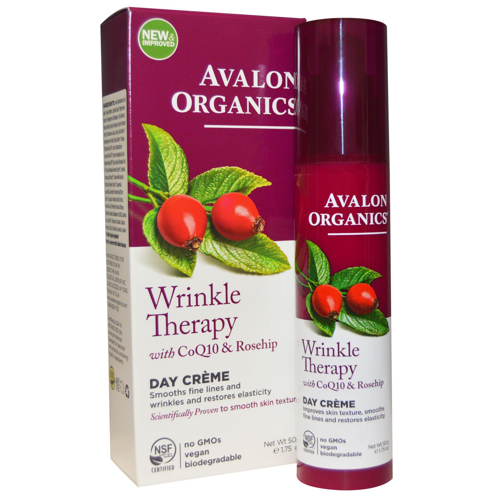 Avalon Organics, CoQ10 Repair, крем против морщин, 1,75 унции (50 г)