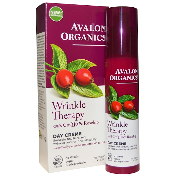 Wrinkle Therapy, With CoQ10 & Rosehip, Day Creme, 1.75 oz (50 g)