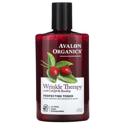 Купить Avalon Organics Средство против морщин с коэнзимом Q10 и шиповником, выравнивающий тоник, 8 жидких унций (237 мл)