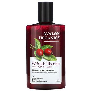 Avalon Organics, Soin anti-ride, avec CoQ10 et cynorhodon, lotion démaquillante à parfaire, 237 ml