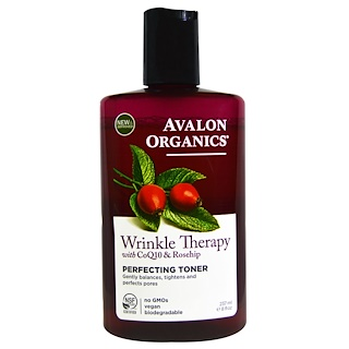 Avalon Organics, Wrinkle Therapy, With CoQ10 & Rosehip, Perfecting Toner, 8 fl oz (237 ml)