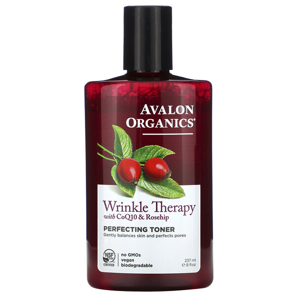 Wrinkle Therapy, With CoQ10 & Rosehip, Perfecting Toner, 8 fl oz (237 ml)
