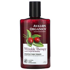 Авалон Органкс, Wrinkle Therapy, With CoQ10 & Rosehip, Perfecting Toner, 8 fl oz (237 ml) отзывы