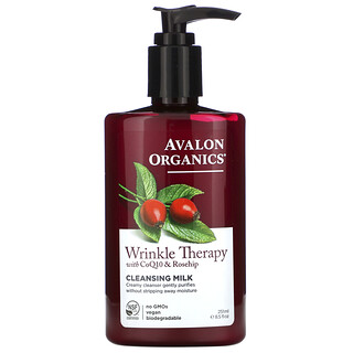 Avalon Organics, CoQ10 Reparador, Leche de Limpieza Facial, 8.5 fl oz (251 ml)