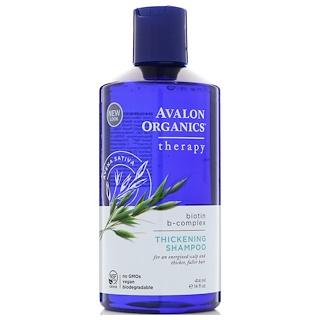 Avalon Organics, Thickening Shampoo, Biotin B-Complex Therapy, 14 fl oz (414 ml)
