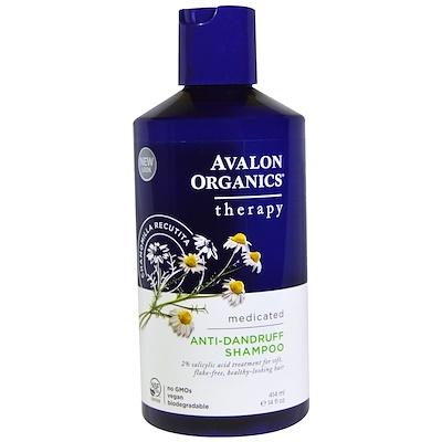 Купить Avalon Organics Шампунь против перхоти, Ромашка аптечная, 414 мл (14 fl oz)
