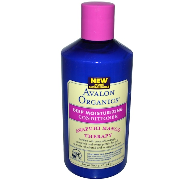 Avalon Organics, Deep Moisturizing Conditioner, Awapuhi Mango Therapy, 14 oz (397 g) (Discontinued Item)
