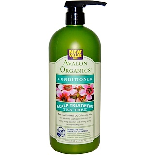 Avalon Organics, Conditioner, Scalp Treatment, Tea Tree, 32 oz (907 g)