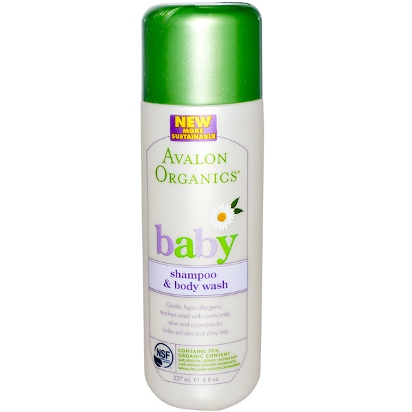 Avalon Organics, Baby, Shampoo & Body Wash, 8 fl oz (237 ml) (Discontinued Item)
