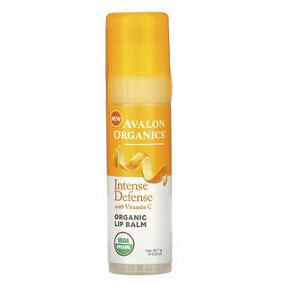 Avalon Organics, 維生素 C 優效防禦,有機潤唇膏,0.25 盎司(7 克)