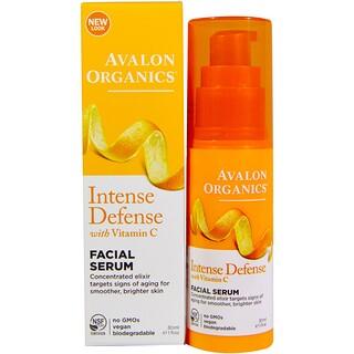 Avalon Organics, Обновление с витамином C, восстанавливающая сыворотка для лица, 1 жидкая унция (30 мл)