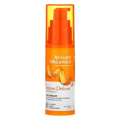 Купить Avalon Organics Eye Cream, Intense Defense with Vitamin C, 1 oz (29 g)