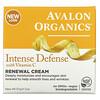 Avalon Organics, Intense Defense، كريم تجديد البشرة بفيتامين جـ، 2 أونصة (57 جم)
