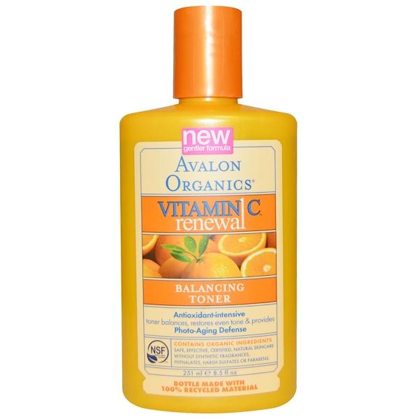 Avalon Organics, Vitamin C Renewal, Balancing Toner, 8.5 fl oz (251 ml) (Discontinued Item)