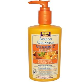 Avalon Organics, Renovación Con Vitamina C, Gel Limpiador Refrescante, 8.5 fl oz (251 ml)