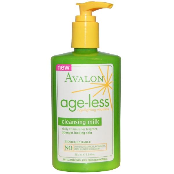Avalon Organics, Cleansing Milk, Age-Less Age-Fighting Vitamins, 8.5 fl oz (251 ml) (Discontinued Item)