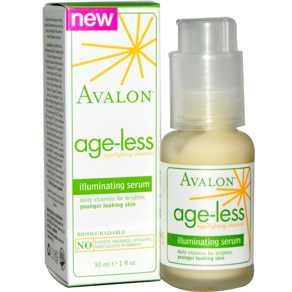 Avalon Organics, Age-Less, Illuminating Serum, 1 fl oz (30ml) (Discontinued Item)