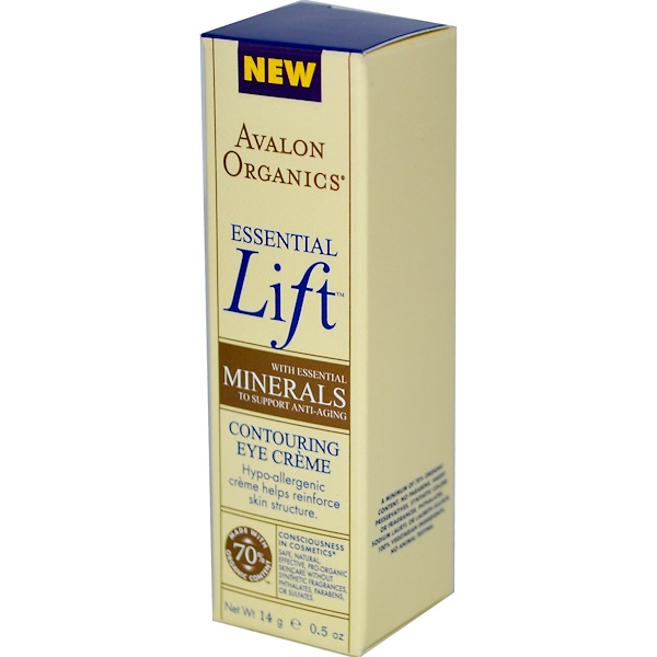 Avalon Organics, Essential Lift, Contouring Eye Cream, 0.5 oz (14 g) (Discontinued Item)