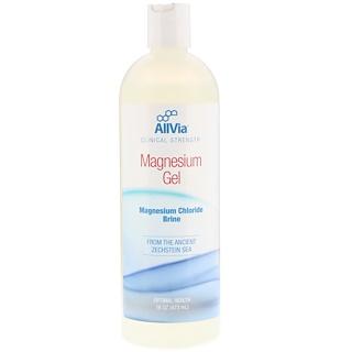 AllVia, Magnesium Gel, Magnesium Chloride Brine, 16 oz (473 ml)