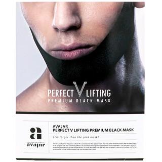 Avajar, Perfect V Lifting Premium Black Mask, 1 Mask