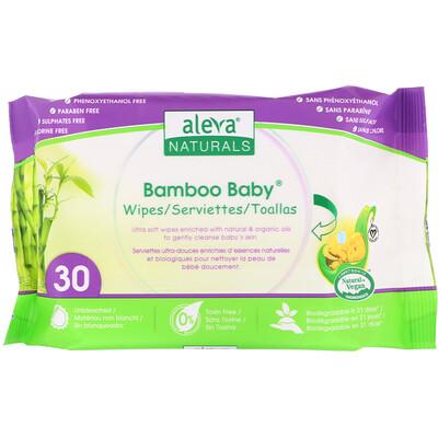 Купить Aleva Naturals Bamboo Baby Wipes, 30 Wipes