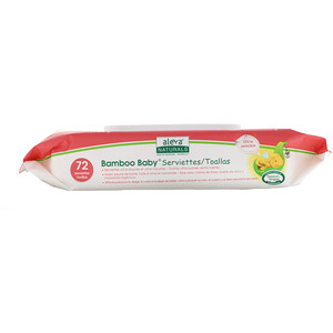 Алева Натуралс, Bamboo Baby Wipes, Ultra Sensitive, 72 Wipes, 6.7 x 7.9 in (17 x 20 cm) отзывы
