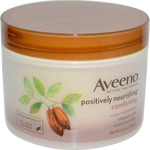 Aveeno, Active Naturals, Positively Nourishing, Cocoa + Shea Butters, Whipped Souffle, 6.0 oz (170 g) (Discontinued Item)