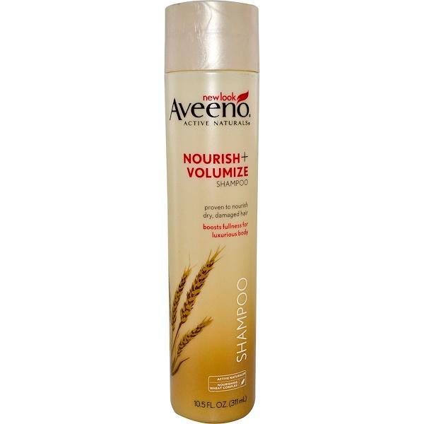 Aveeno, Active Naturals, Nourish+Volumize, Shampoo, 10、5 fl oz (311 ml)