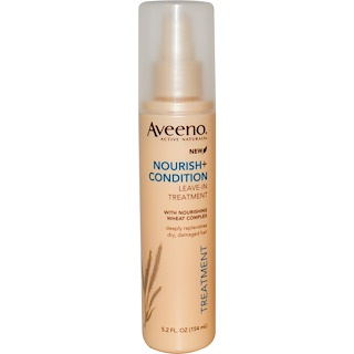 Aveeno, Active Naturals, Nourish+Condition, Leave-In Treatment, 5.2 fl oz (154 ml)