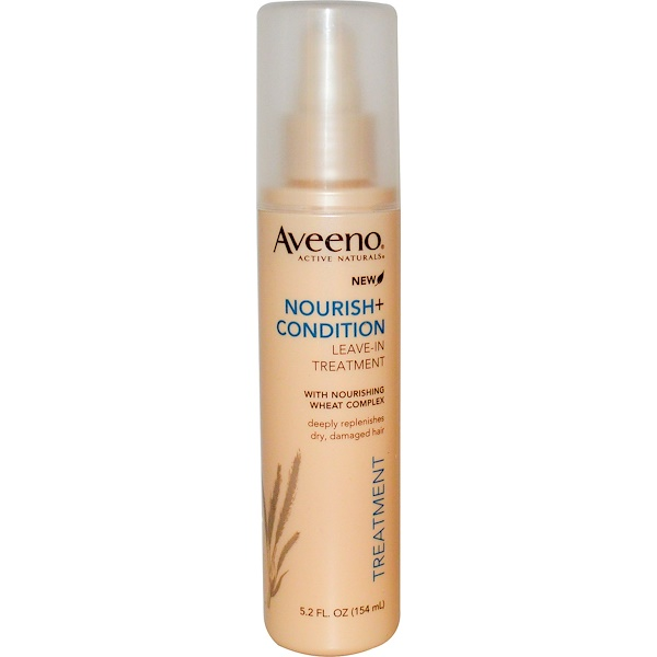 Aveeno, Active Naturals, Nourish+Condition, Leave-In Treatment, 5.2 fl oz (154 ml) (Discontinued Item)