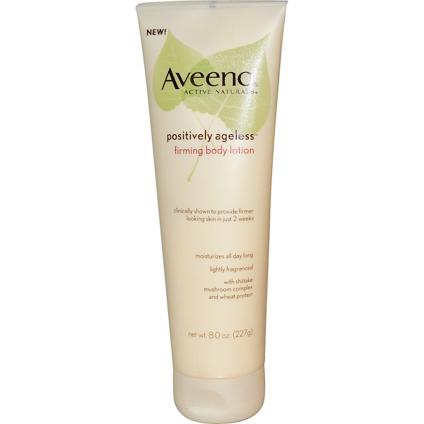 Aveeno, Positively Ageless, 緊膚身體乳, 8 盎司(227克)