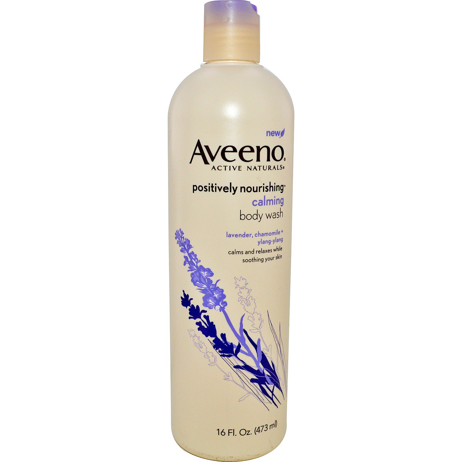 Aveeno, Active Naturals, Positively Nourishing, Calming Body Wash, 16 fl. oz. (473 ml)