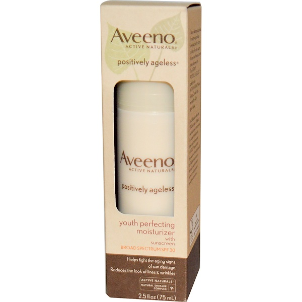Aveeno, Active Naturals, Youth Perfecting Moisturizer with Sunscreen, SPF 30, 2.5 fl oz (75 ml) (Discontinued Item)