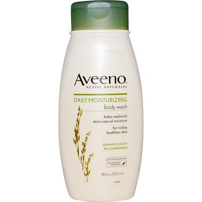 Aveeno Active Naturals,日常保濕沐浴露,18液量盎司(532毫升)