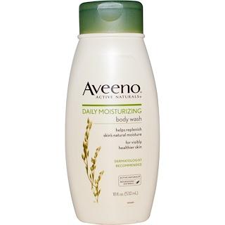 Aveeno, アクティブ ナチュラルズ, デイリー モイスチャリング ボディ ウォッシュ, 18 fl oz (532 ml)