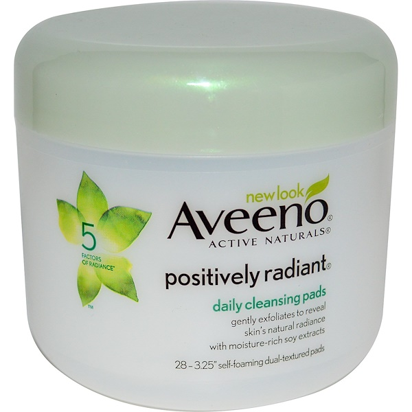 Aveeno, Positively Radiant, Daily Cleansing Pads, 28 Pads (Discontinued Item)