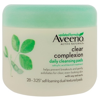 Aveeno, Clear Complexion, Daily Cleansing Pads, 28 Pads