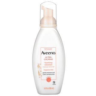 Aveeno, Ultra-Calming Foaming Cleanser, Fragrance Free, 6.0 fl oz (180 ml)