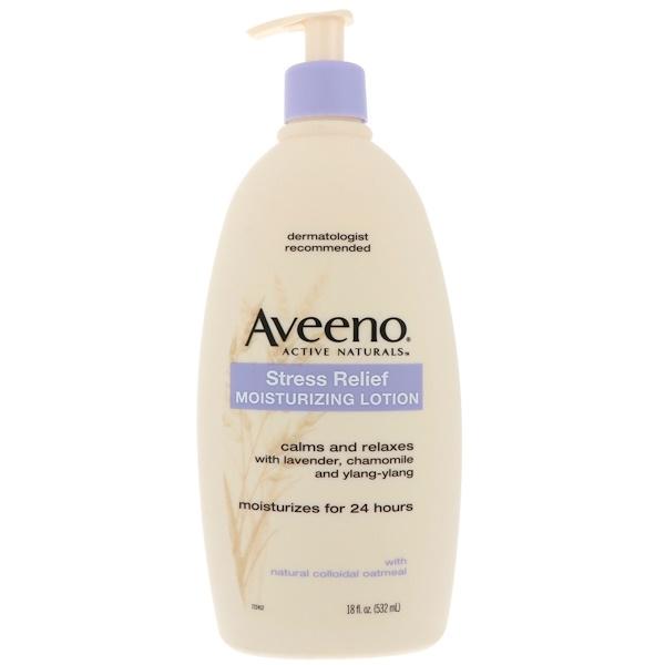 Aveeno, Stress Relief 保濕乳液,18 液體盎司(532 毫升)
