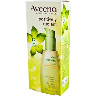 Aveeno, Active Naturals, Positively Radiant, Daily Moisturizer, SPF 30, 2.5 fl oz (75 ml)