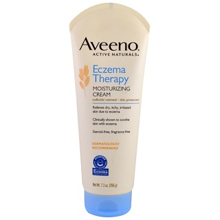 Aveeno, Active Naturals, Eczema Therapy, Moisturizing Cream, Fragrance-Free, 7.3 oz (207 g)