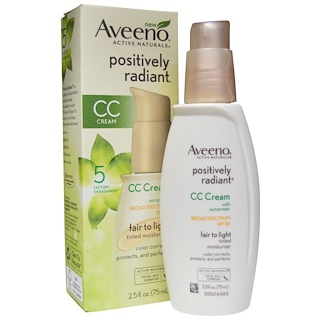 Aveeno, Positively Radiant, CC Cream, SPF 30, Fair to Light, 2.5 fl oz (75 ml)