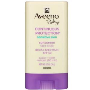 Авино, Baby, Continuous Protection, Sensitive Skin, Face Stick Sunscreen, Broad Spectrum SPF 50, 0.5 oz (14 g) отзывы