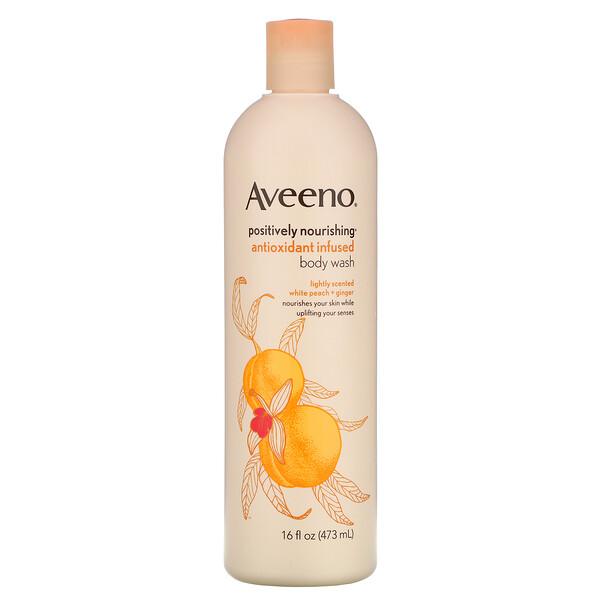 Positively Nourishing Antioxidant Infused Body Wash, White Peach + Ginger, 16 fl oz (473 ml)