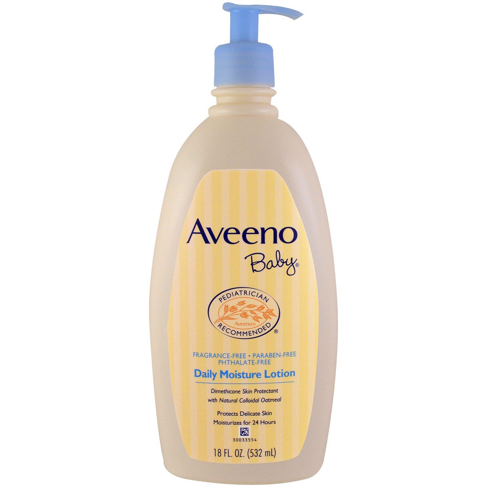Aveeno Baby Daily Moisture Lotion Fragrance Free 18 Fl Oz
