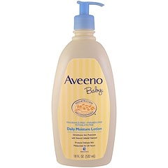 Aveeno, Baby, Daily Moisture Lotion, Fragrance Free, 18 fl oz (532 ml)